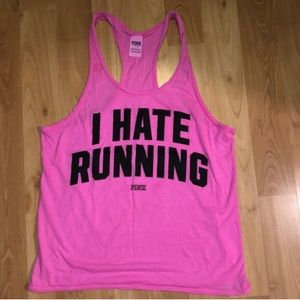 PINK Victoria's Secret I Hate Running Tank Top